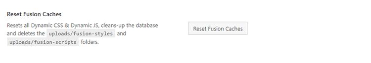 reset fusion caches avada