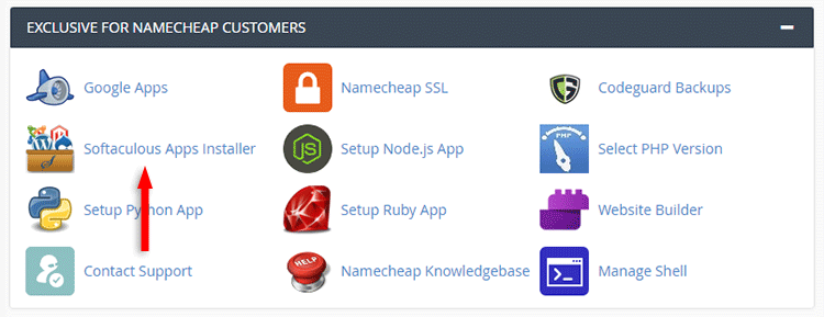 softaculous app in cpanel