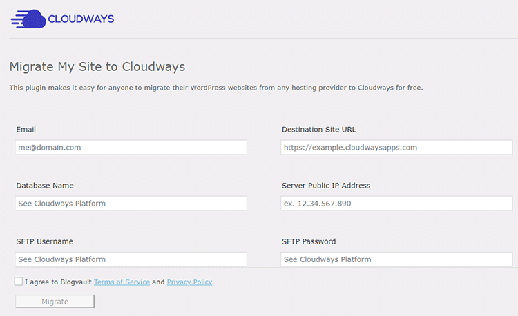cloudways migrator plugin settings