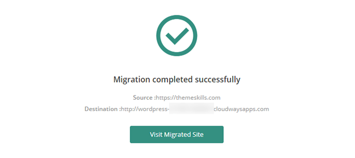 wordpress site migration completed