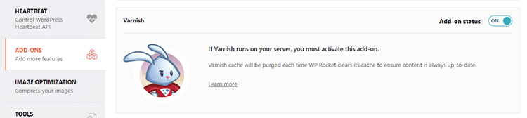 varnish add-on wp rocket