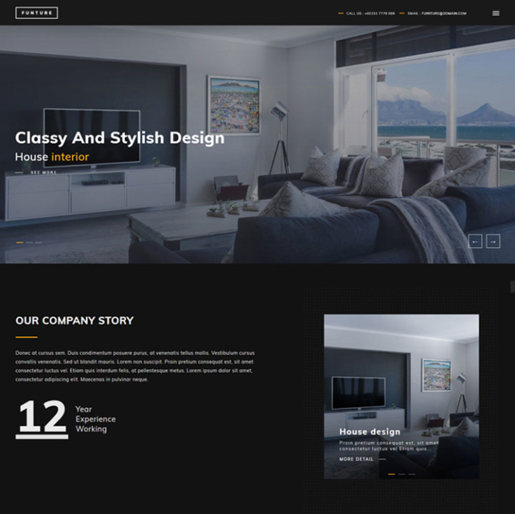 funture construction wordpress theme