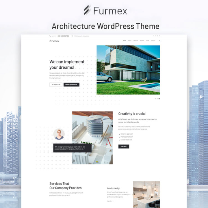 furmex wall construction wordpress theme