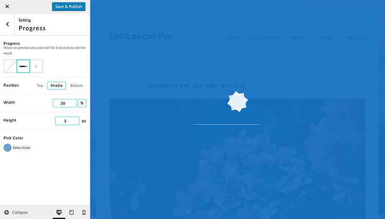 loftloader pro progress bar