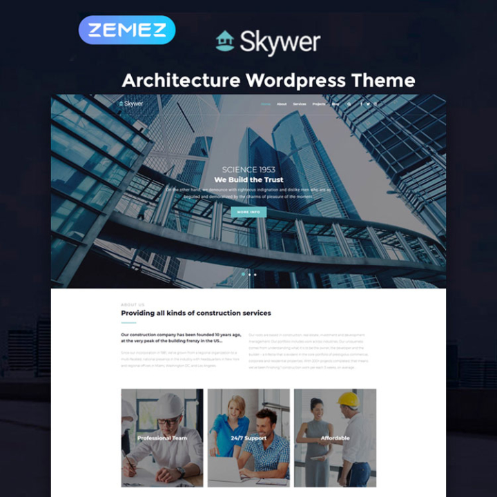 skywer construction wordpress theme