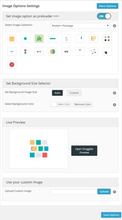 wordpress preloader unlimited plugin image options
