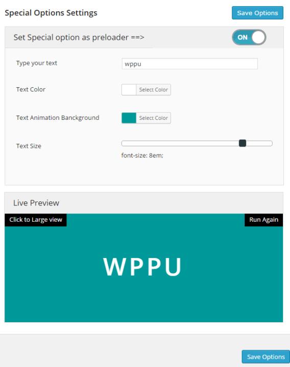 wordpress preloader unlimited plugin text