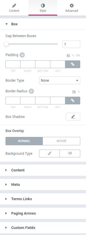 jetblog smart tiles widget style settings