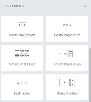 jetblog post widgets in elementor