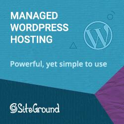 SiteGround WordPress Banner